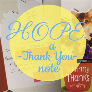 Hope: A Thank You Note